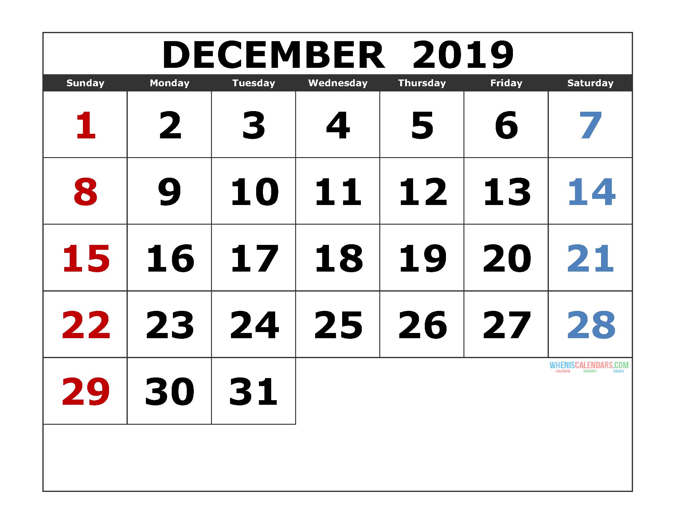 Calendar For December 2019 Dec December December2019 December2019calendar 2019calendar Monthly Calendar Template Print Calendar Monthly Calendar Printable