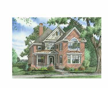 Home Plans HOMEPW07881 - 3,227 Square Feet, 5 Bedroom 4 Bathroom Colonial Home with 2 Garage Bays