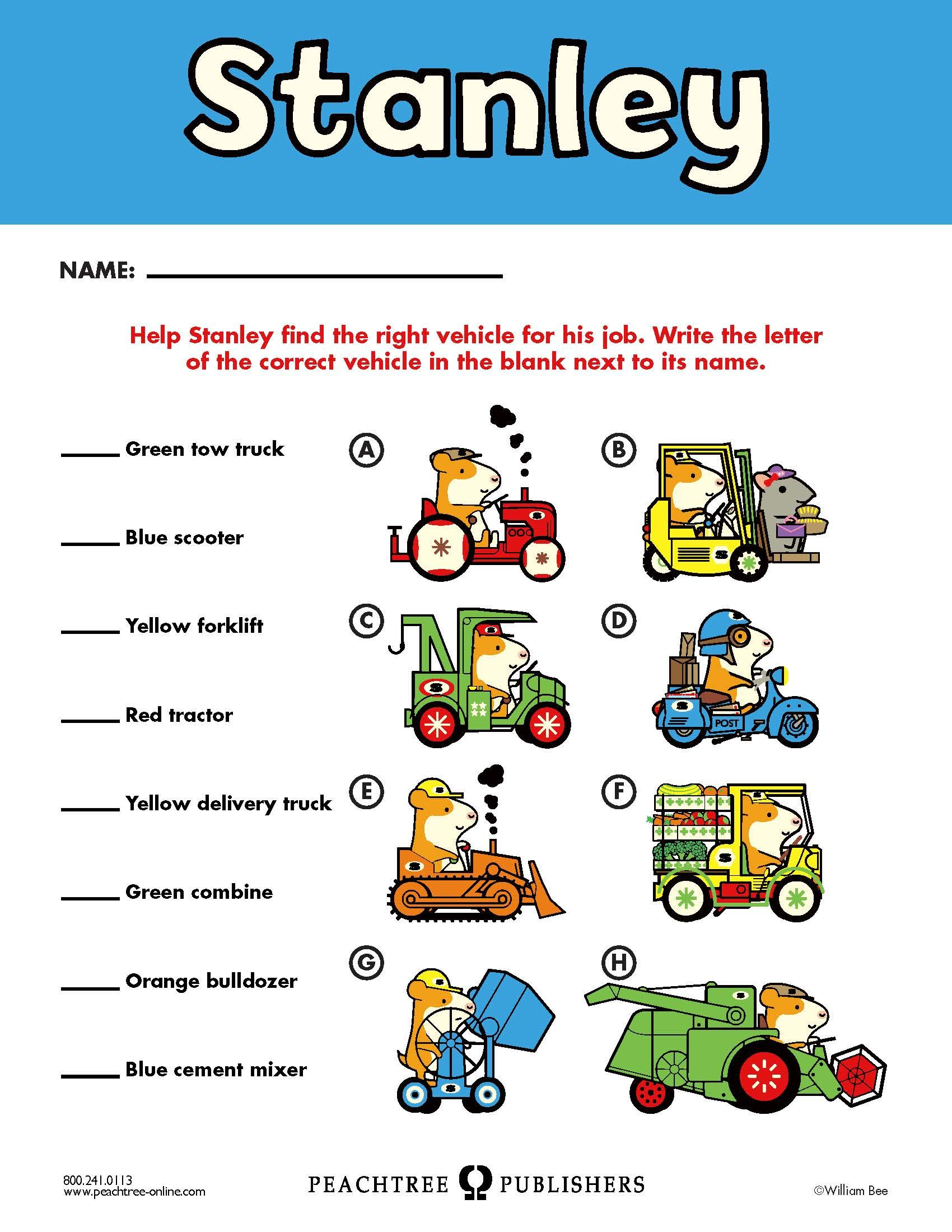 Free Educators Resource Activity Kit For Stanley The