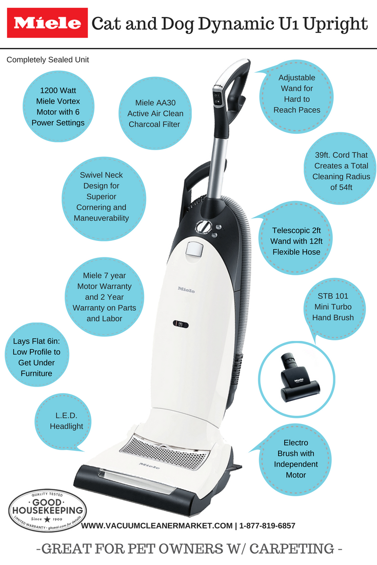Miele Cat And Dog Dynamic U1 Upright Vacuum Great On Low Medium Pile Carpeting Upright Vacuums Miele Vacuums