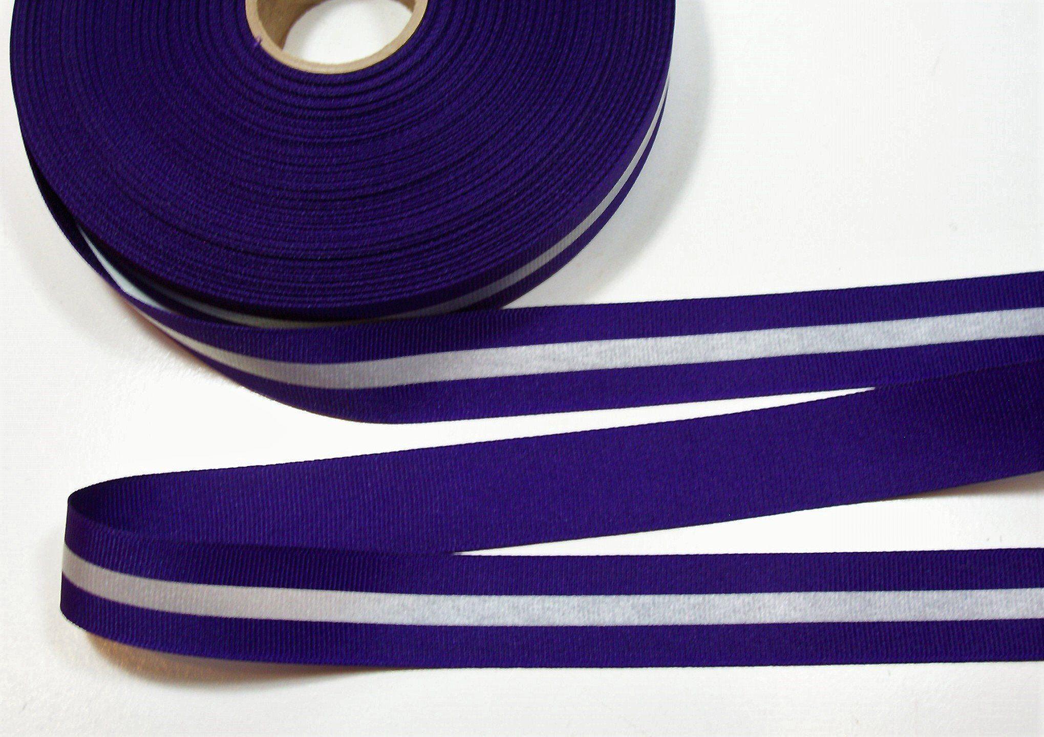 """5 Yds Pink White Purple Striped Grosgrain Ribbon 7//8/""""W"""