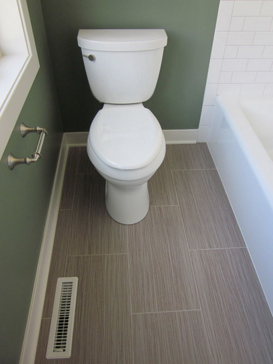 Nice Contemporary Small Bathroom With Vinyl Flooring Ideas