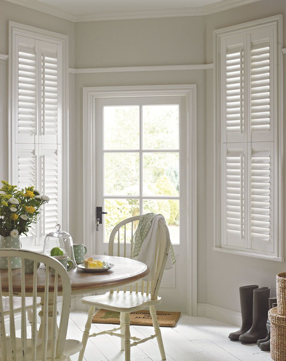 Thomas Sanderson Basswood White shutters, Home, Wooden
