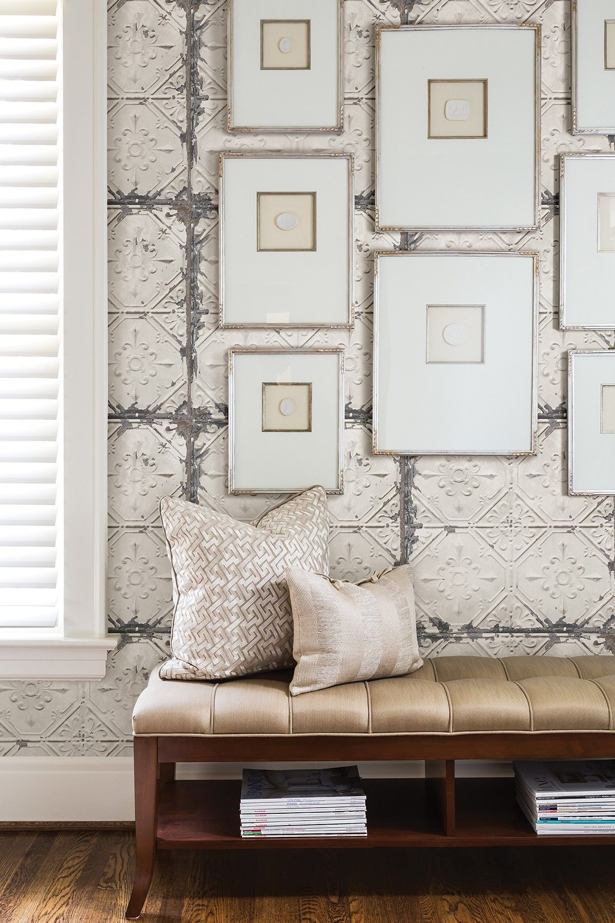 Vintage Tin Tile Peel And Stick Wallpaper By Brewster Home Fashions On @ HauteLook