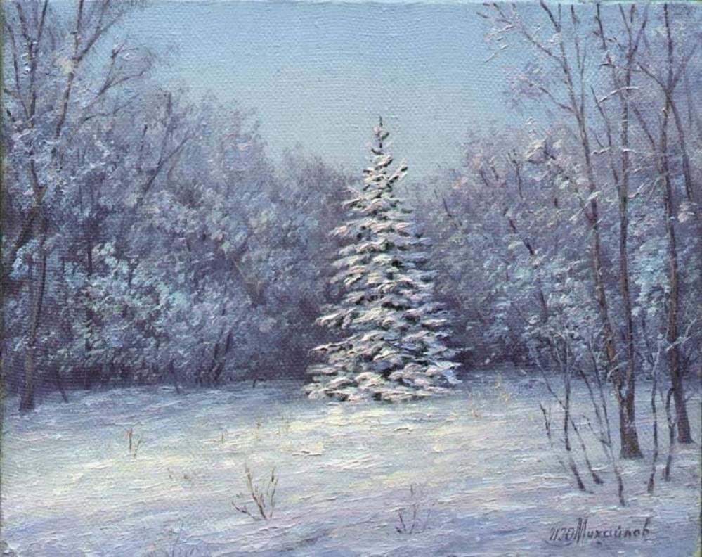красивый картинка художников о зиме с авторами средних