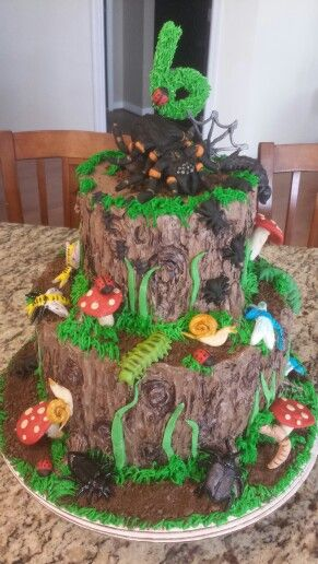 Groovy Insect Bug Cake With Images Bug Birthday Cakes Boys First Funny Birthday Cards Online Overcheapnameinfo