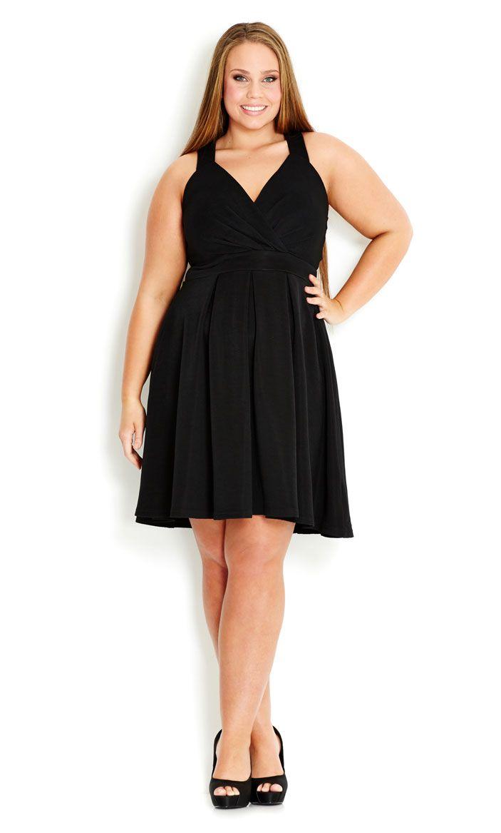 City Chic - CUTE BOW DRESS - Women's plus size fashion