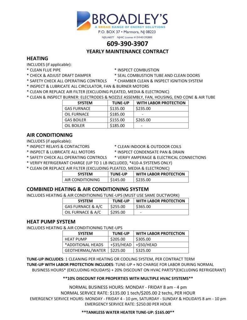 Free Hvac Maintenance Contract Template Luxury 8 Hvac