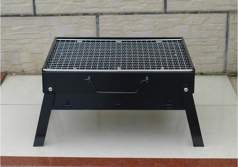 Small Portable Folding Barbecue Charcoal Grill Easy Assemble And Remove  Barbecue Cooking Set BBQ Grill 35