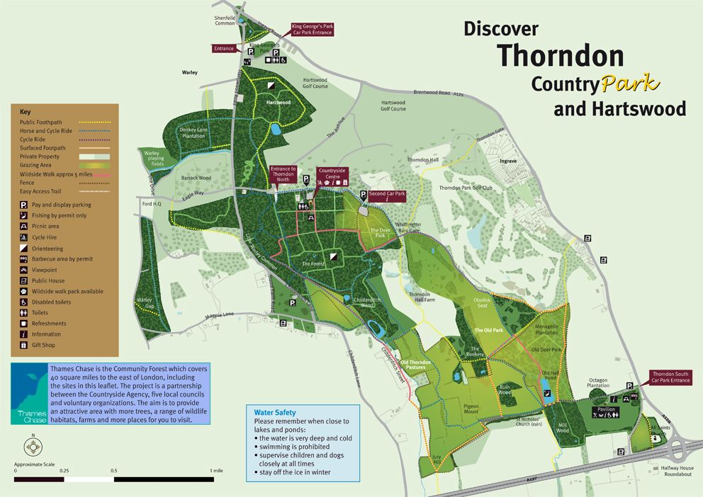 thorndon park essex map