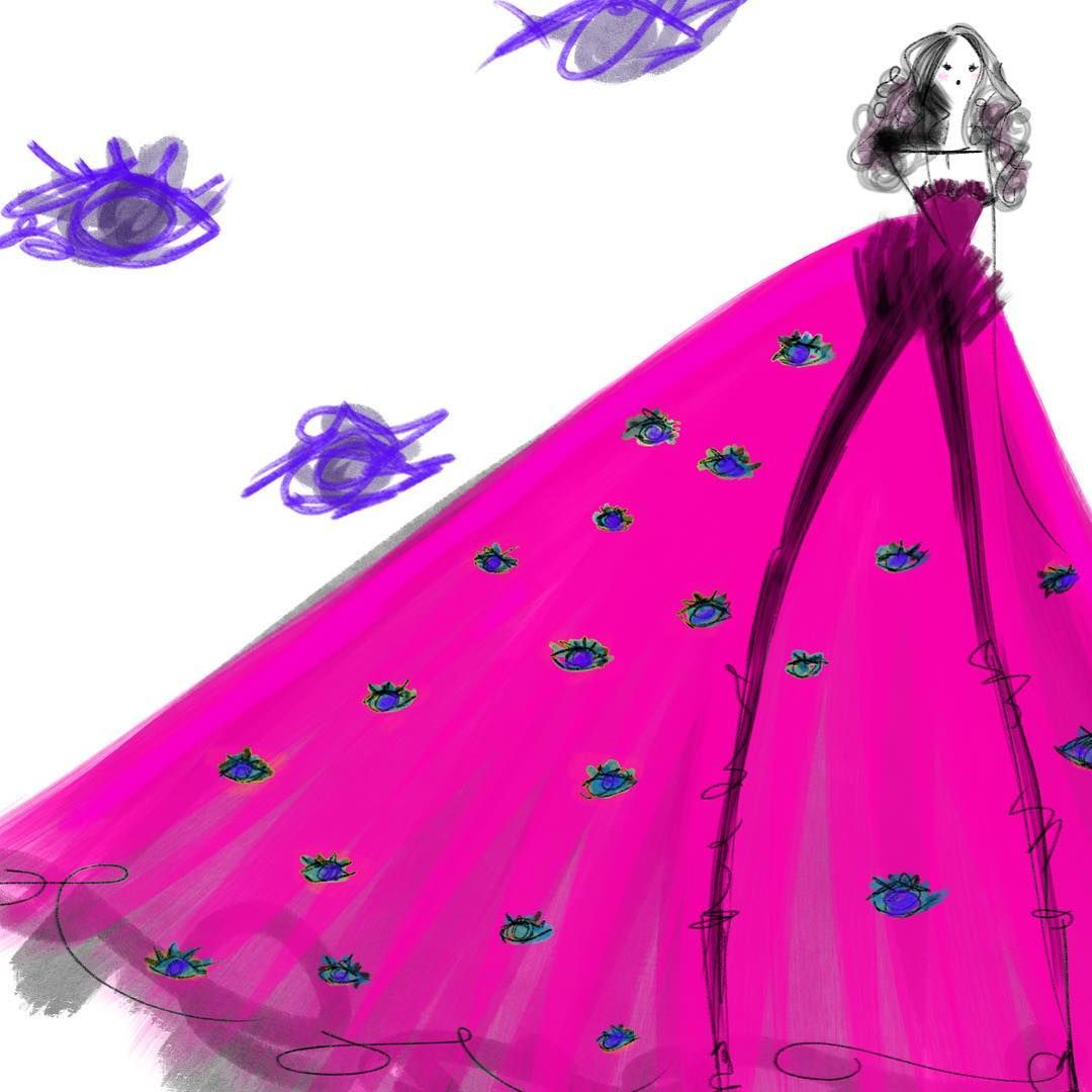 Purple Eyes  _ . . . _ #fashion #fashionista #fashionblogger #fashiondesign #fashionart #fashionillustration #fashionisart #evileye #instaart #pink #steampunk #illustration #art #sketch #drawing #fashiondrawing #artist #sundaymood