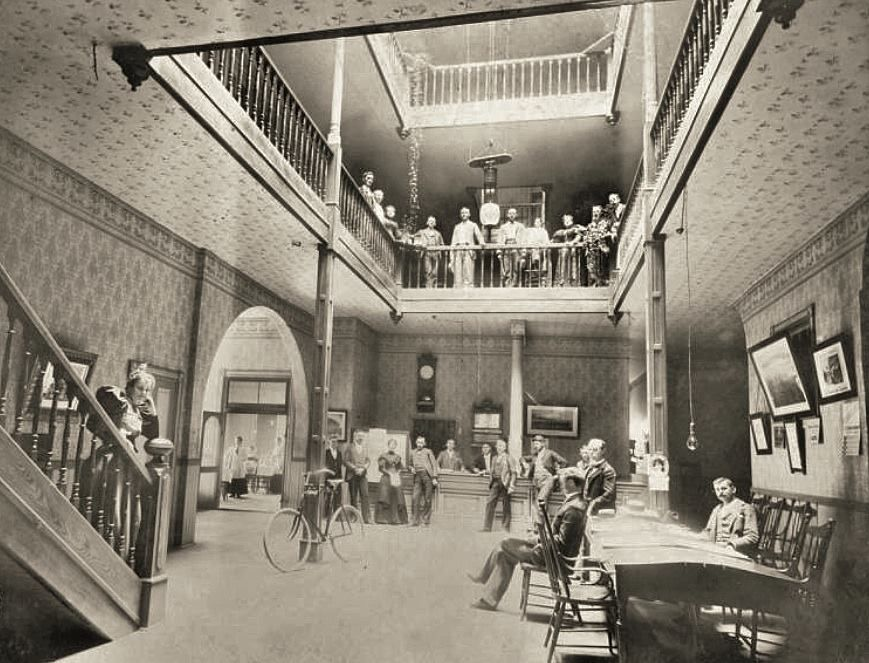 Interior View Of Moscow Hotel Idaho 1890s University Library Digital