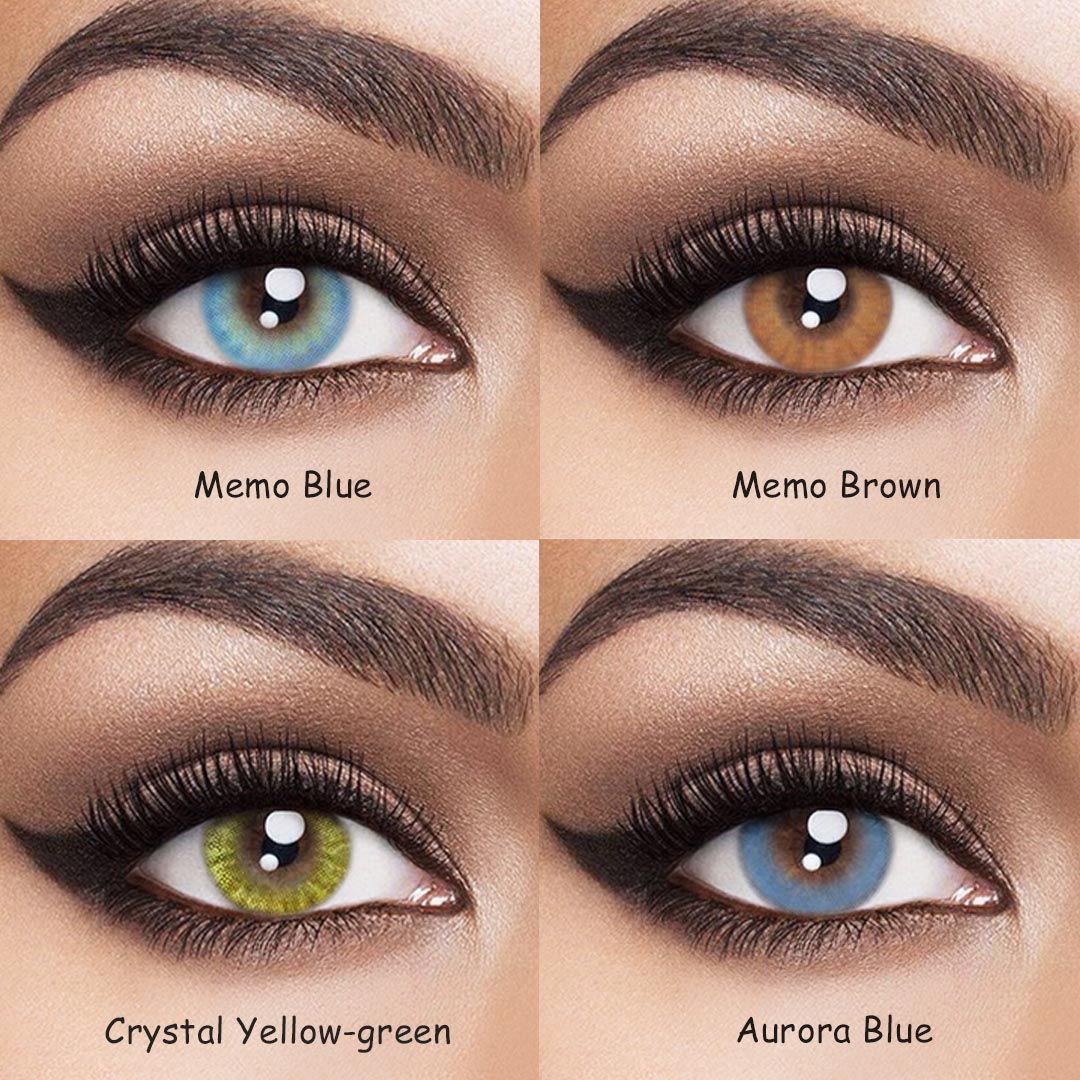 Vcee Crystal Brown Colored Contact Lenses Contact Lenses Colored Natural Contact Lenses Colored Contacts