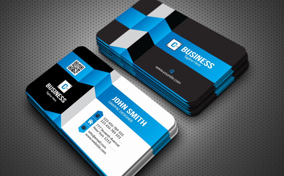 John Smith New Business Card Corporate Identity Template Business Card Template Design Graphic Design Business Card Business Card Design Minimalist