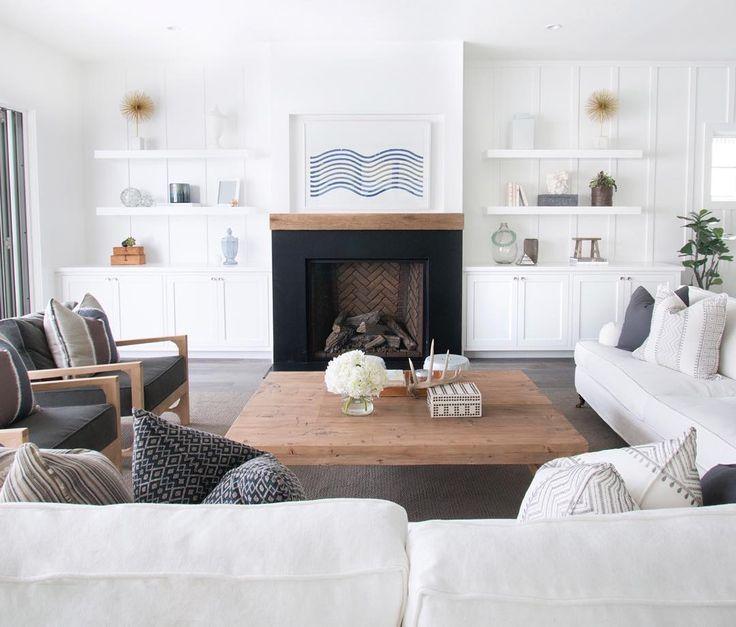 Salones modernos chimenea fireplaces w shelves or - Salones modernos con chimenea ...