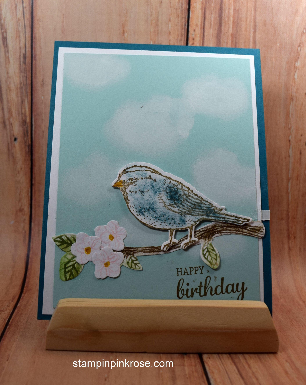 Stampin' Up! Birthday card made with Best Birds stamp set and designed by Demo Pamela Sadler. See more cards at stampinkrose.com #stampinkpinkrose