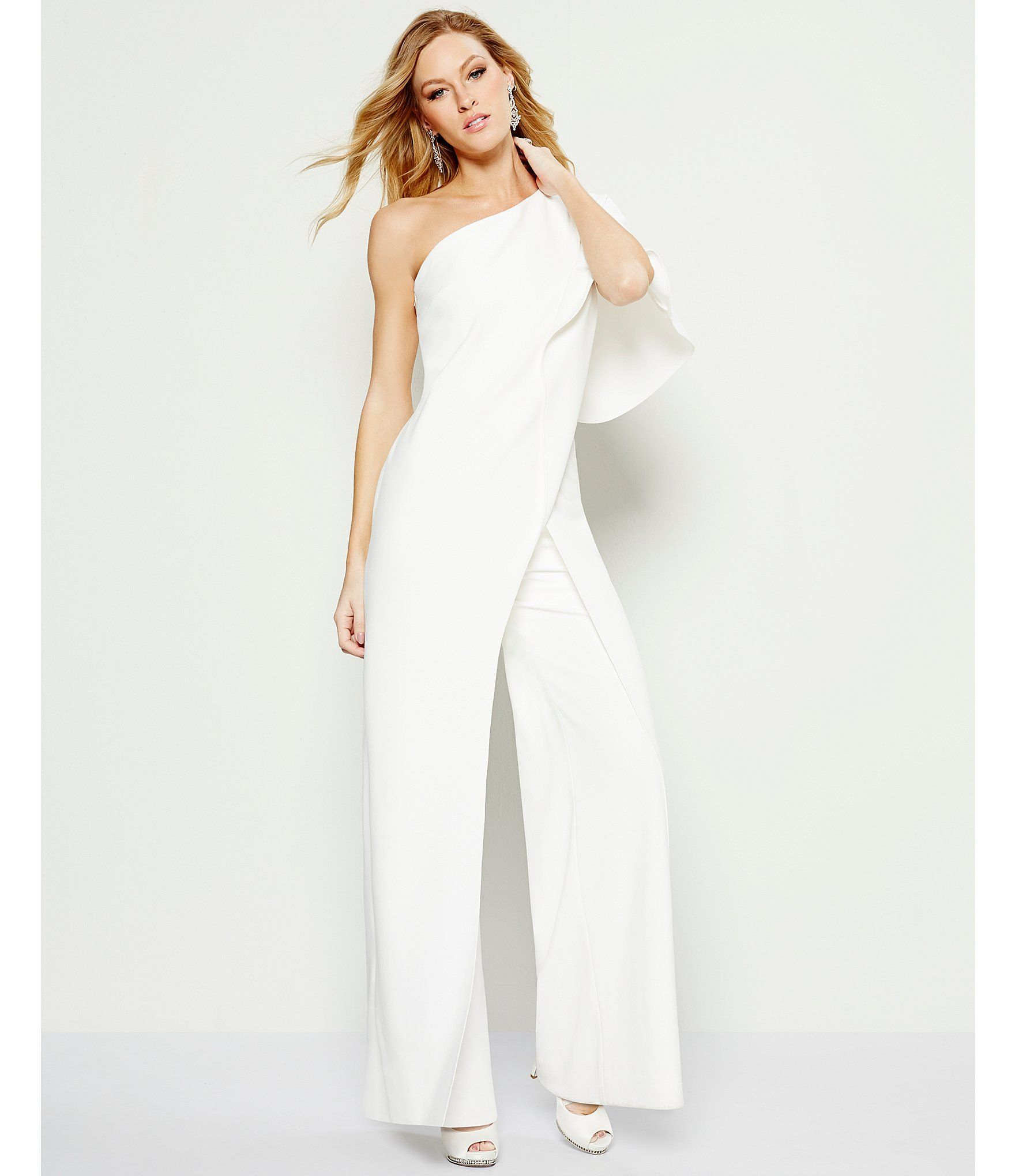 76516c9a9c9 Shop for Adrianna Papell Crepe One Shoulder Jumpsuit at Dillards.com. Visit  Dillards.com to find clothing