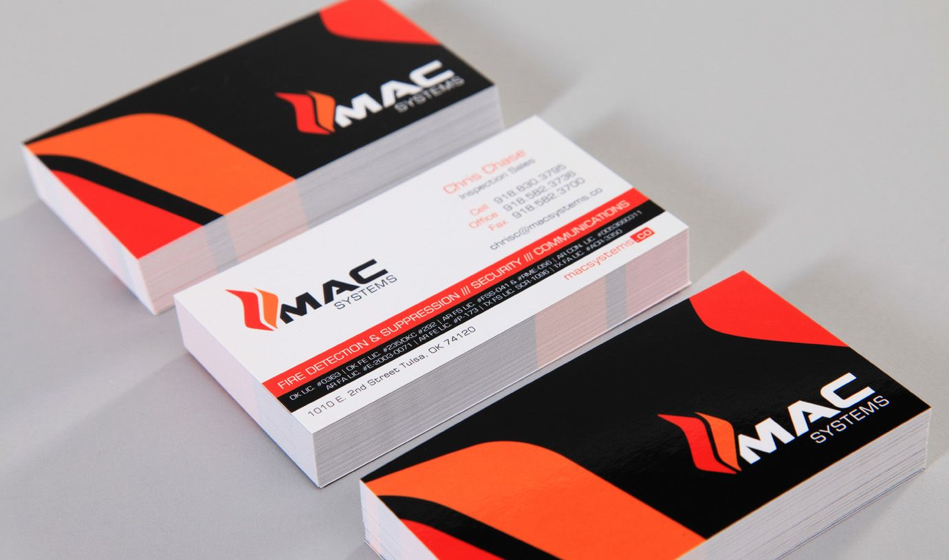 Mac Systems | Business Cards | Organi Studios | Tulsa Graphic ...
