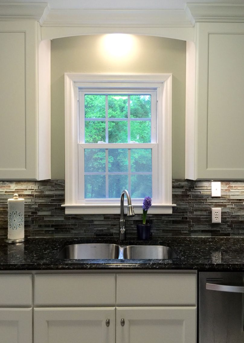My beautiful kitchen renovation with Allen Roth Shimmering ...