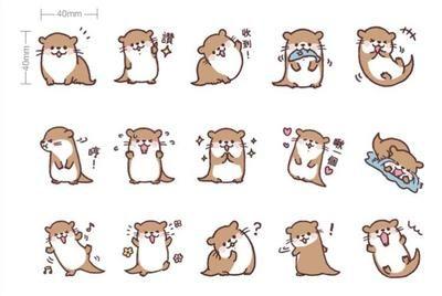 Cute Otter Bujo Stickers