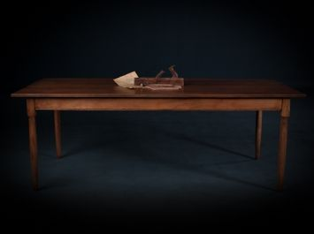 Mobili Shaker ~ Cherry shaker farm table handcrafted by mobili farm tables