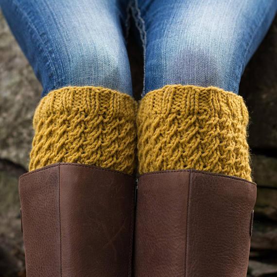 Boot Cuff Knitting Pattern - DIGNITY - a set of ...