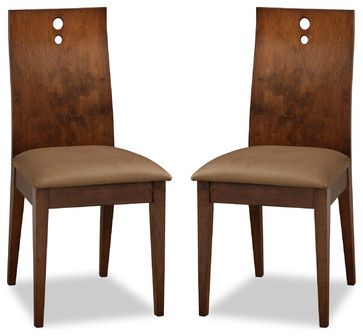 Bella Brown Fabric Upholstered Cocoa Dining Chair - modern - Dining Chairs - Vancouver - bryght.com