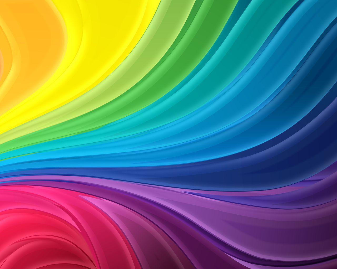 rainbow of colors - wallpaper on your desktop :: BigFon.com