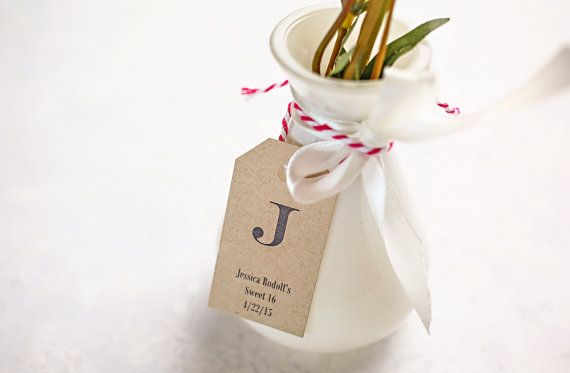Favor Tags Personalized Gift For Wedding Bo Bridal Shower Favors Party Monogram Set Of 25 1 X 2 Eng5