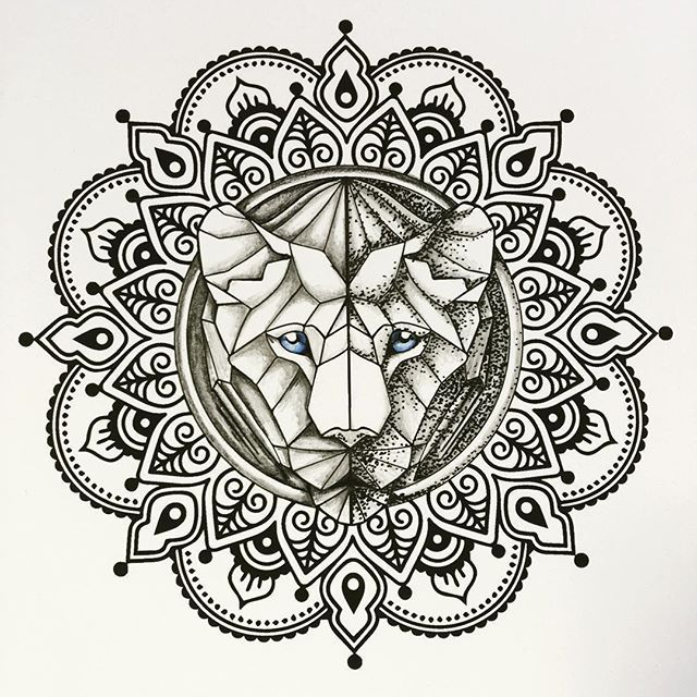 lioness mandala tattoo - Google Search