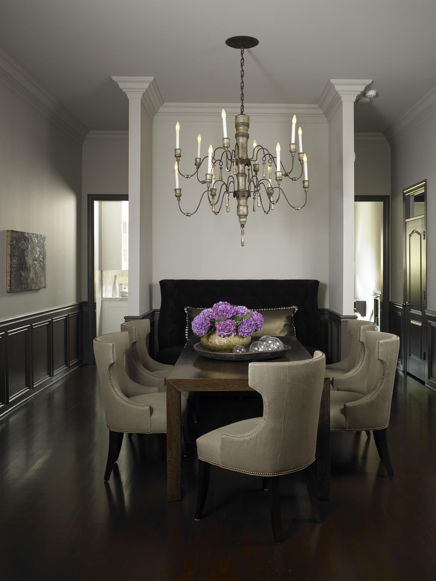 Chicago Transitional Dining Room Design by Michael Del Piero Good Design