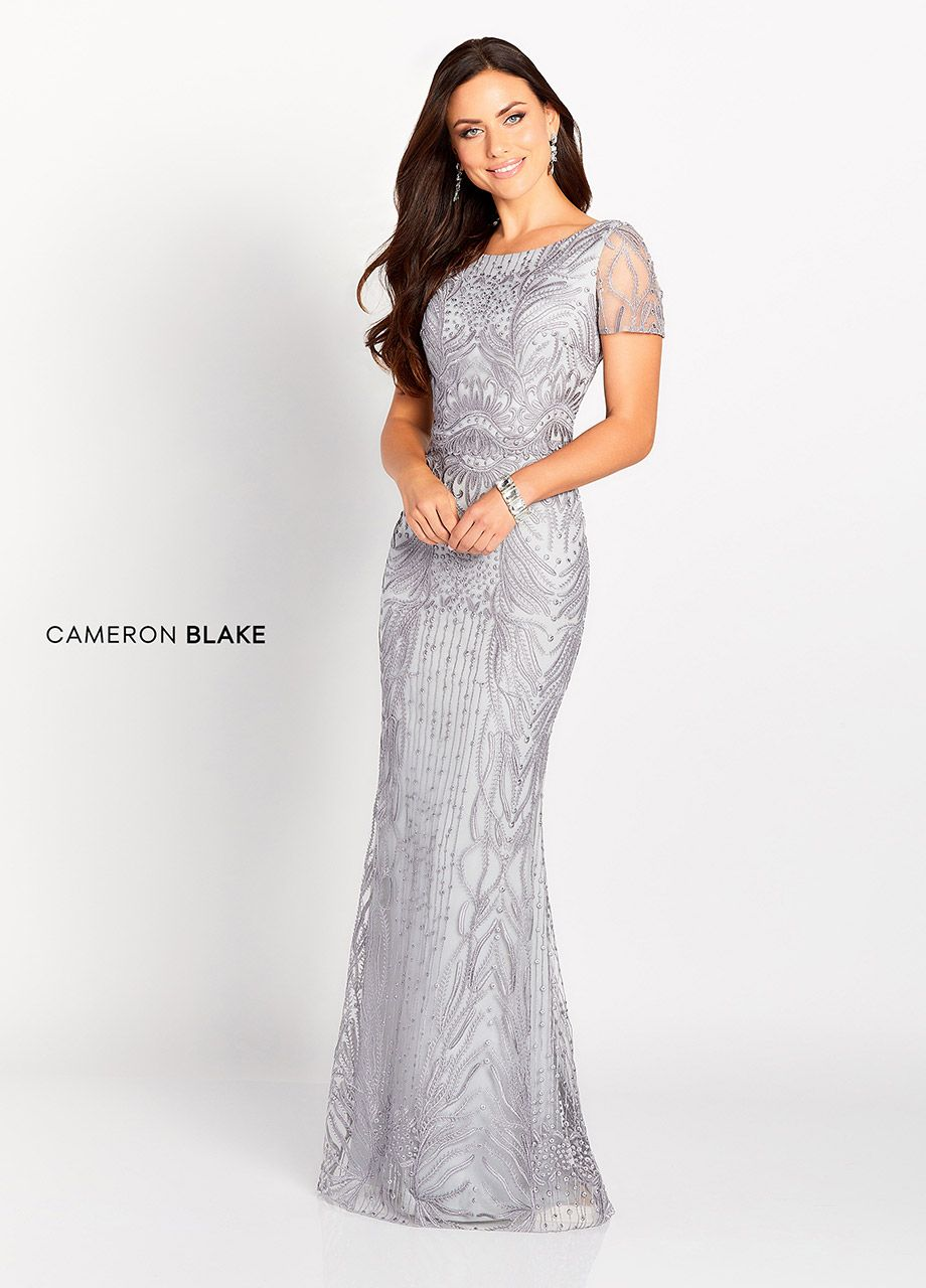 784c7559e035 Cameron Blake 119644 - This sophisticated and gorgeously detailed  sleeveless allover lace sheath features a Sabrina neckline, a natural  waist, a V-back, ...