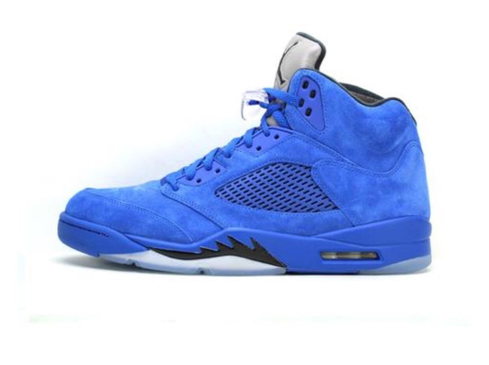 1b050d8a85bbf5 Nike Air Jordan V 5 Retro Blue Suede Take Flight Suit 136027-401 Size 10  New DS