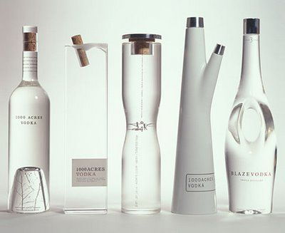 Unique Custom Glass Bottles Designed By Arnell 1000 Acres Vodka