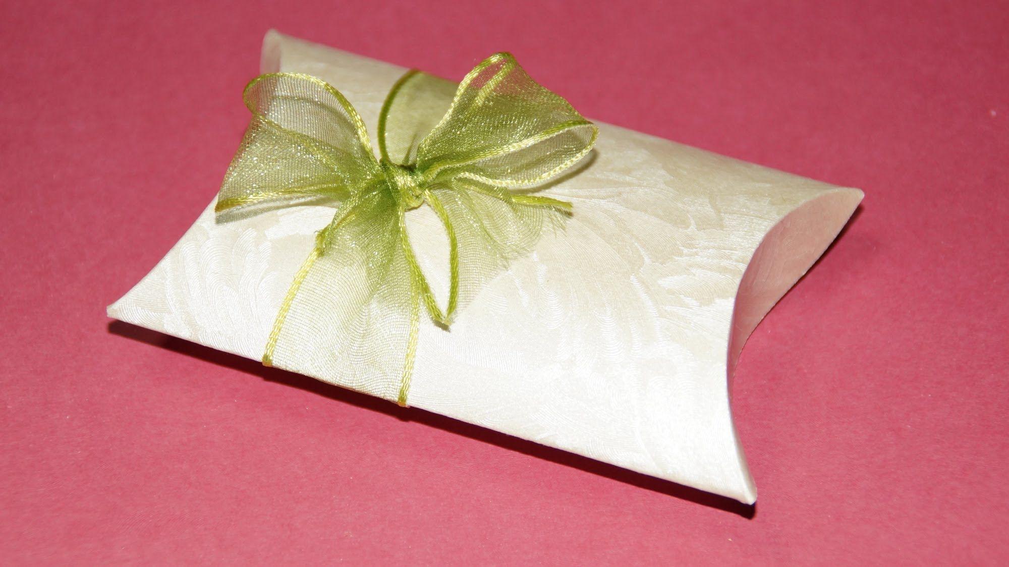 Pillow Box Basteln geschenkbox basteln pillow box für geldgeschenke und kleinigkeiten