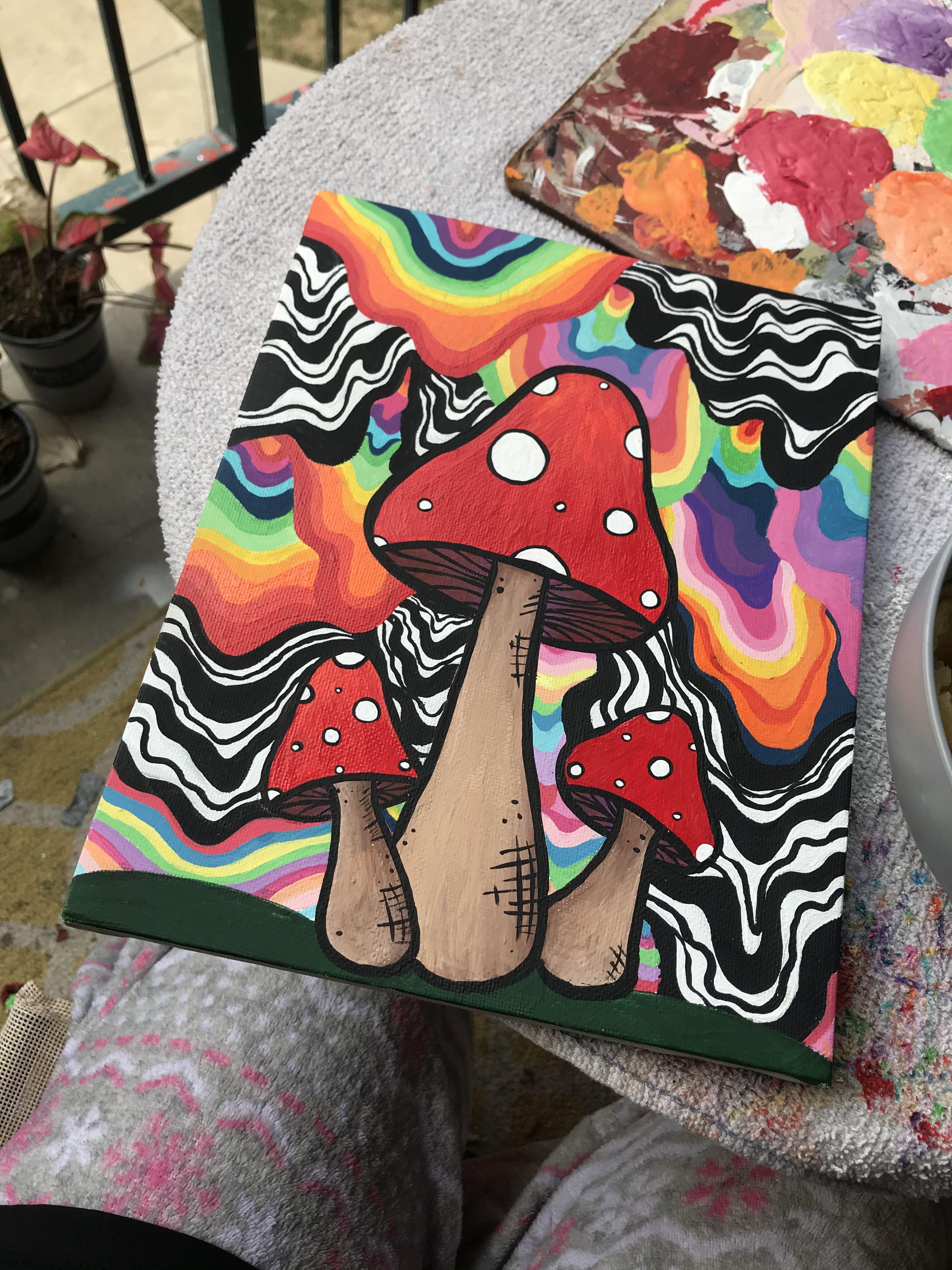 Pencil Drawings of Mushrooms | psychedelic mushrooms 2 by