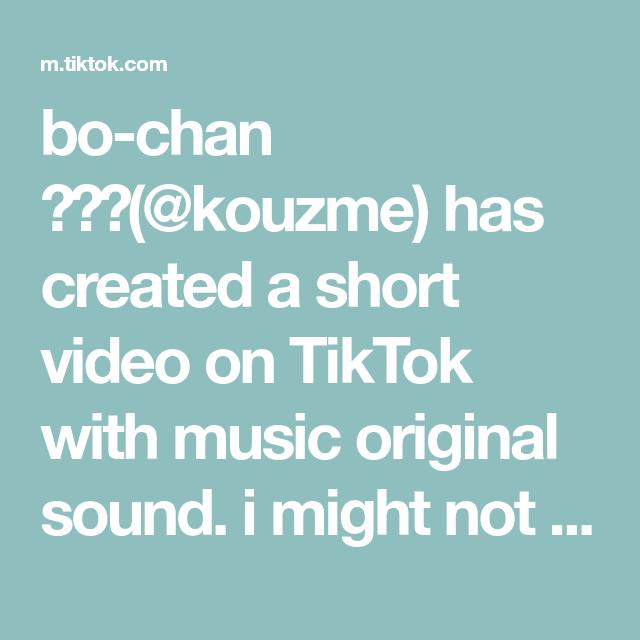 Bo Chan Kouzme Has Created A Short Video On Tiktok With Music Original Sound I Might Not Post Be Random Kid Black Lives Matter Movement The Originals