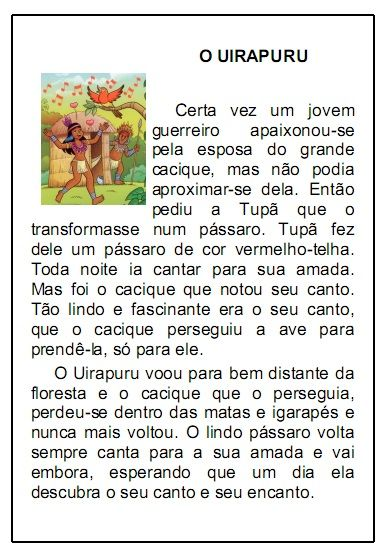 Lendas Do Folclore Brasileiro Para Imprimir Incentivos Para