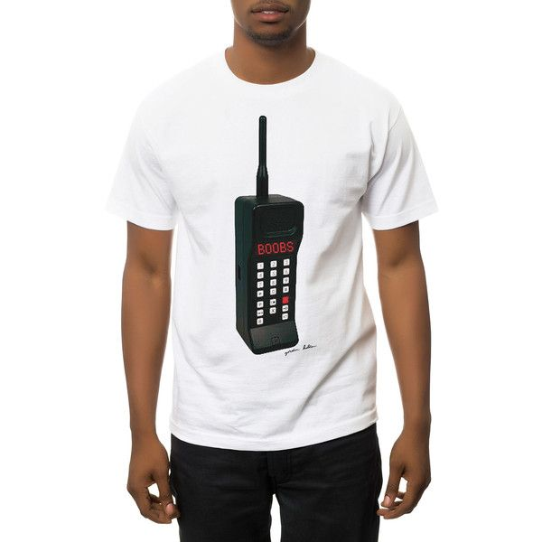 Gordon Holden Tee The Cell Phone in White
