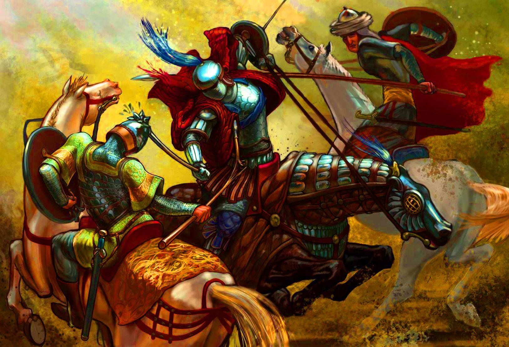 Byzantine Cataphract Fighting Against Persian Horsemen History