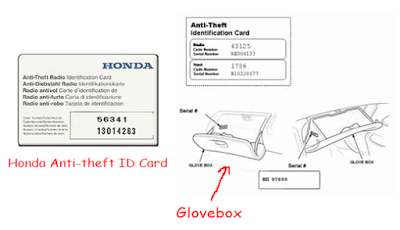 Crv Anti Theft Code Radio Honda Car Audio Coding