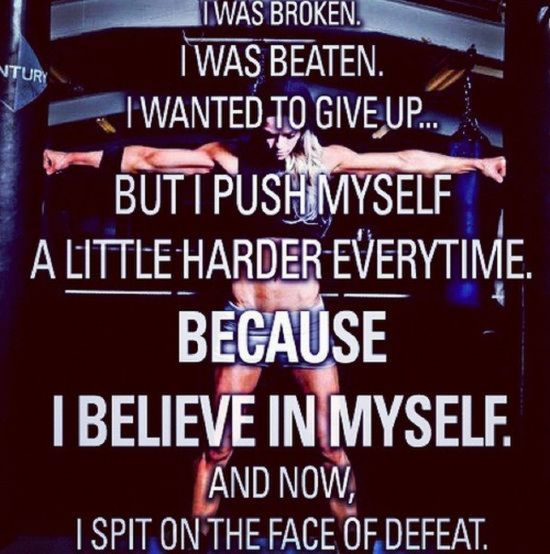 I Spit In The Face Of Defeat Quotes Quote Motivational Broken Fitness  Workout Motivation Exercise Give Up Believe In Yourself Motivate Workout  Motivation ... Photo Gallery