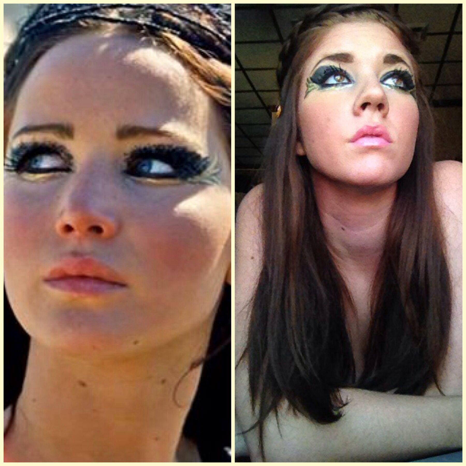 katniss everdeen makeup quotmaytheoddsbeeverinyourfavor