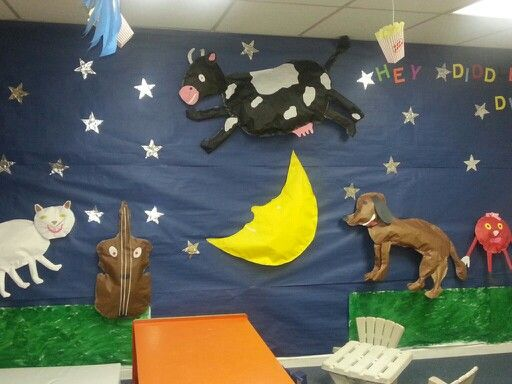 3 D Nursery Rhymes Made Out Of Bulletin Board Paper