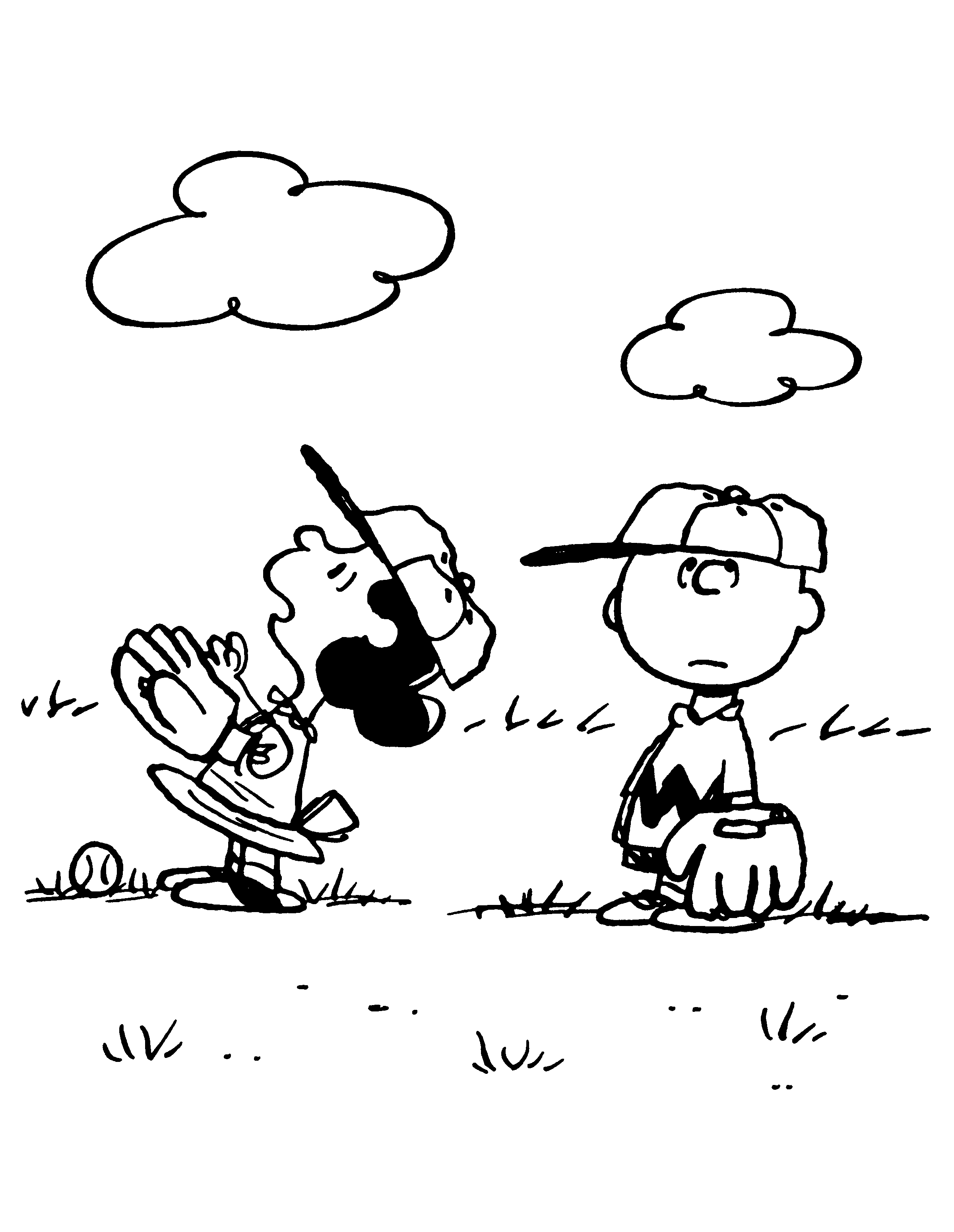 peanuts comics coloring pages - photo#33