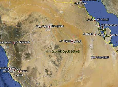 غرب السعودية عرضة للبراكين والحمم شقت طريقها إلى تحت سطح الأرض الإمارات اليوم Map