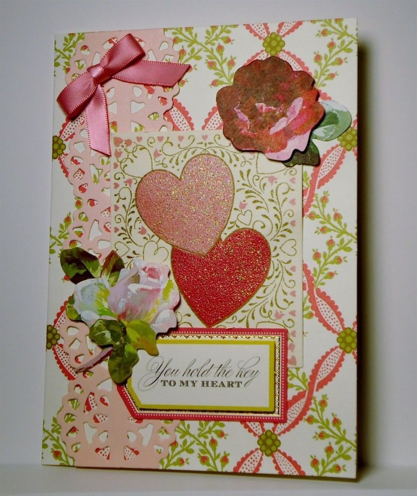 Key To My Heart Greeting Cards Valentine Love Handmade Anna Griffin