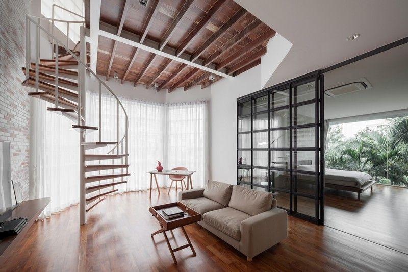Best Spiral Staircase Elevates Minimalist Duplex In Thailand 400 x 300