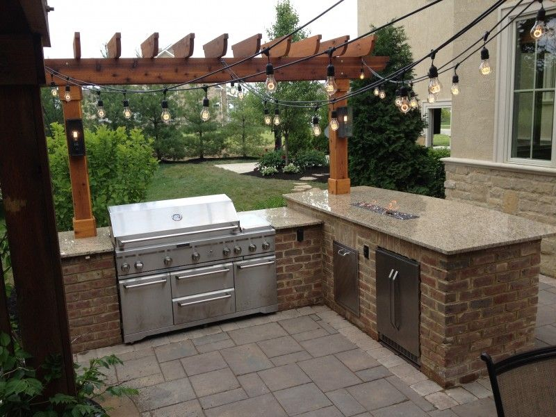 Outdoor Kitchen With Fire Pit  Outdoor Kitchens  Pinterest Delectable Outdoor Kitchen Designs Ideas 2018