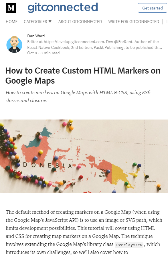 How to Create Custom HTML Markers on Google Maps Map